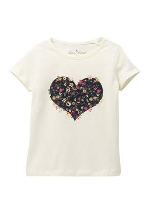 Tailor Vintage Short Sleeve Floral Heart Graphic Tee (Toddler & Little Girls)