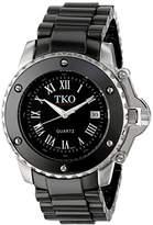 TKO ORLOGI Women's TK575-BK Genuine Ceramic Dial Watch