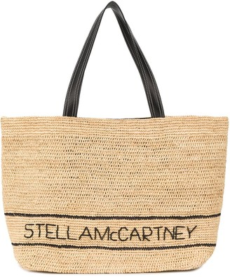 Stella McCartney Large Raffia Logo Tote