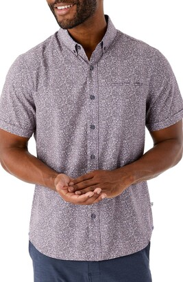 7 Diamonds At First Sight Short Sleeve Performance Button-Down Shirt