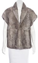 Gerard Darel Short Sleeve Fur Jacket