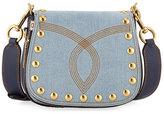 Marc Jacobs Nomad Small Studded Saddle Bag, Denim