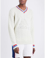 Adidas X Pharrell Williams Logo-embossed Knitted Jumper