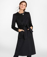 Brooks Brothers Brushed Wool Twill Wrap Coat