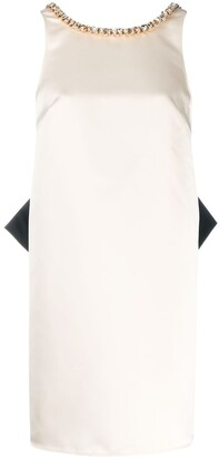 Elisabetta Franchi Chain Trim Flared Mini Dress