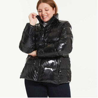 Joe Fresh Women+ Puffer Jacket with PrimaLoft, JF Black (Size 1X)