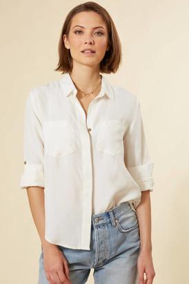 Velvet Heart Riley Button Down Shirt Ivory XS