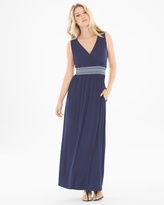 Soma Intimates Sleeveless Smocked Waist Maxi Dress Navy