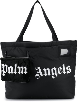 Palm Angels Logo-Print Oversized Tote Bag