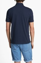 Topman Chambray Patch Polo Navy X-Small
