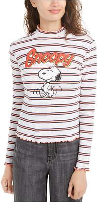 Peanuts Juniors' Snoopy Mock-Neck Top