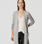 LOFT Long V-Neck Cardigan