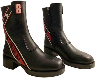 Christian Dior Diorally Black Leather Ankle boots
