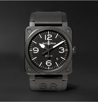 Bell & Ross Automatic 42mm Ceramic And Rubber Watch, Ref. No. Br0392blce