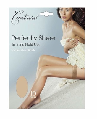 """Couture Perfectly Sheer Tri-band Hold-ups medium (5'0""""-5'8"""" 152-173 cm) black"""
