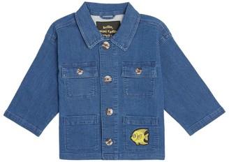 Mini Rodini Safari Fish Denim Jacket (1.5-11 Years)