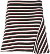 MAISON KITSUNÉ striped fitted skirt