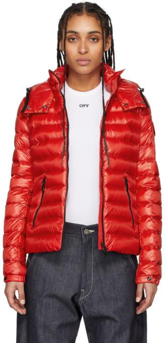 Moncler Red Down Bleu Jacket