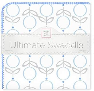 Swaddle Designs Ultimate Winter Swaddle, X-Large Receiving Blanket, Made in USA, Premium Cotton Flannel, Pink Lolli Fleur (Mom's Choice Award Winner)