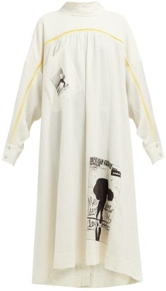 Acne Studios Dance-print Oversized Shirtdress - Womens - White
