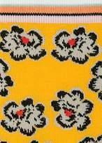Paul Smith Women's Yellow 'Hawaiian Floral' Pattern Socks