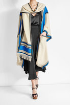 Etro Linen and Silk Cape Coat with Fringing