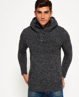 Superdry Frontier Hooded Henley Sweater