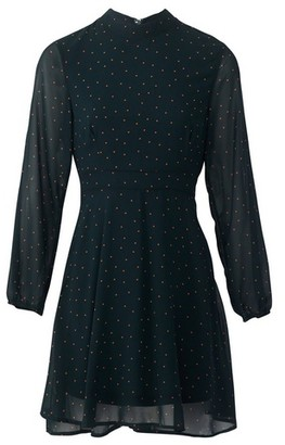 Dorothy Perkins Womens Izabel London Emerald Polka Dot Dress