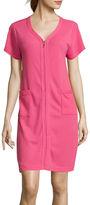 Asstd National Brand Coeur d' Alene Short-Sleeve Zip Robe