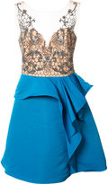 Marchesa embroidered top dress - women - Polyester - 14