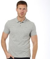 Armani Jeans Mens Solid Colour Cotton Pique Polo Grey