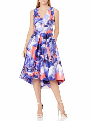 Sangria Women's Sleeveless Floral Print Fit and Flare Dress