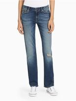 Calvin Klein Jeans Straight Leg Destructed Jeans