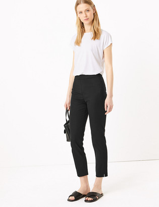 Marks and Spencer Mia Slim Cotton Side Zip Trousers