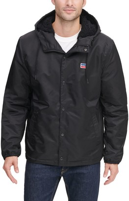 Levi's Men's Coaches Flight Hoodie Jacket with Sherpa Lining
