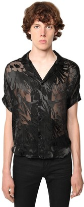 Saint Laurent Floral Devore Sheer Viscose & Silk Shirt