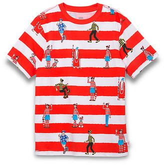 Vans X Where's Waldo? Boys Stripe T-Shirt