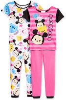 Disney 4-Pc. Tsum Tsum Cotton Pajama Set, Little Girls (2-6X) & Big Girls (7-16)