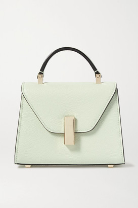 Valextra Iside Micro Textured-leather Shoulder Bag - Green