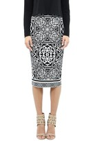 beyonce knowles  Who made  Beyonce Knowles black and white print skirt?