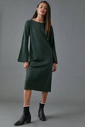 Thea Sweater Midi Dress By Dolan Left Coast in Green Size XS