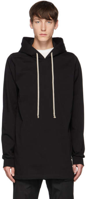 Rick Owens Black Small Lightning Bolt Hoodie