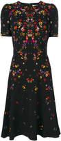 Givenchy night pansy printed tea dress