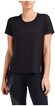 2XU XVENT G2 Short Sleeve Tee (Black/Multicolour Reflective) Women's Clothing