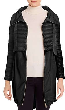 Herno Cropped Down Overlay Coat