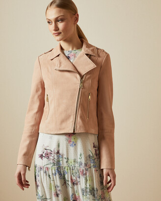 Ted Baker ELEXA Suede zip detail jacket