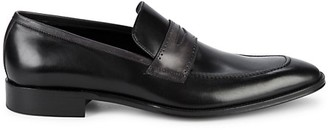 Bruno Magli Cicero Leather Penny Loafers