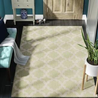 Charlton Home Hervey Bay Moroccan Trellis Beige/Light Green Indoor/Outdoor Area Rug Rug Size: Rectangle 5' x 8'