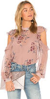Astr Chantelle Top in Pink. - size L (also in M,S,XS)