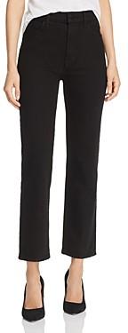 J Brand Jules High-Rise Straight Leg Jeans in Hustle